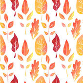 Vector watercolor seamless pattern with leaves — Stock Vector