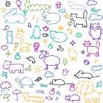 Set of cartoon animals — Stock Vector #51716925
