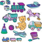 Набор игрушки — Cтоковый вектор