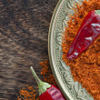 Chili red pepper powder. — Stock Photo