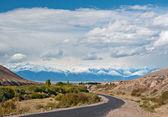 Montañas del paisaje de tíbet, — Foto de Stock