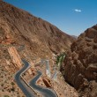 Dangerous turn on the highway pass in Morocco. — Stock Photo