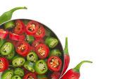 Kırmızı ve yeşil biber — Stok fotoğraf
