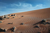 Erg Chebbi sandy dunes of Sahara Desert at the evening, Morocco. — Stock Photo