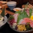 Set of traditional Japanese sashimi with raw fish — Stock Photo