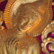 Gold gilding buddha statue — Stock Photo