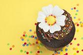 Petit gâteau à la main — Photo