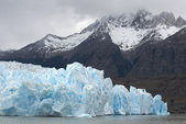 Terminus of glacier — Stock Photo