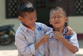 Laotian schoolboys — Stock Photo