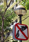 No feeding the birds — Stock Photo