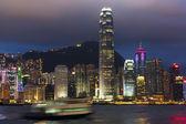 夜に香港港 — ストック写真