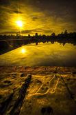 ангкор-ват на рассвете — Стоковое фото
