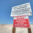Safety zone desert — Stock Photo