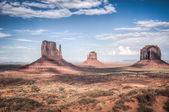 Monument valley in high dynamic range — Stock Photo