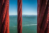 Steel Cable Golden Gate Bridge — Stockfoto
