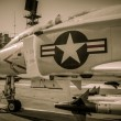 Jet uss midway — Stock Photo
