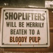 Shoplifters sign Jerome ArizonGhost Town — Stockfoto #36671447