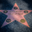 Hollywood walk of fame star — Stock Photo #36868627