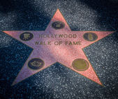 Hollywood walk of fame star — Stock Photo