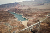 Hoover Dam taken from helicopter — Stock Photo