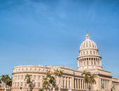 Cuba Old Havana with the Capitol — Stock Photo