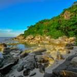 Panoramic tropical beach with coconut palm. Koh Samui, — ストック写真 #39068001