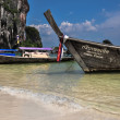 Long tail boat on tropical beach, Krabi, Thailand — Stock Photo #39112439