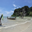 Long tail boat on tropical beach Railay Krabi Thailand — Stock Photo #39341849