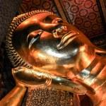 Buddha gold statue . Wat Pho, Bangkok, Thailand — Stock Photo #39473393