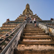 Stock Photo: Temple of Dawn Wat Arun and beautiful blue sky in Bangkok,