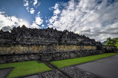 Buddist temple Borobudur complex in Yogjakarta in Java — Stock Photo