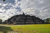 Buddist temple Borobudur in Yogjakarta in Java — Stock Photo