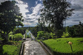 Buddist temple Borobudur Park complex in Yogjakarta in Java — Stock Photo