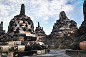 Buddist temple Borobudur UNESCO World Heritage complex in Yogjak — Stock Photo