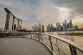 Singapore-maart 31: de marina bay sands resort hotel op mrt 31, — Stockfoto