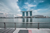 SINGAPORE-MARCH 31: The Marina Bay Sands Resort Hotel on Mar 31, — Stock Photo