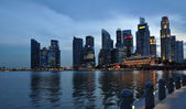 Singapore city skyline finacial district — Stock Photo