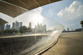Singapore city skyline finacial district — Stock Photo