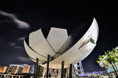 Singapore The Marina Bay Sands Museum — Stock Photo
