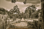 Bayon chrám a angkor wat khmerské komplexu v siem reap, Kambodža — Stock fotografie