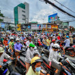 Saigon, Vietnam - June 15: Road Traffic on June 15, 2011 in Saig — Stock Photo #41954437