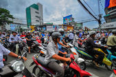 Saigon, Vietnam - June 15: Road Traffic on June 15, 2011 in Saig — Stock Photo