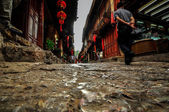 Lijiang China old town streets and buildings — Stok fotoğraf