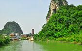 Guillin China Seven Star Park and Karst rocks Yangshuo — Stock Photo