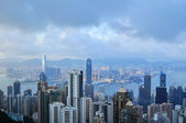 Hong Kong Island from Victoria Peak Park — Stock Photo
