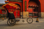 A Hutong behind all the bars in Houhai area, Beijing — Stock Photo