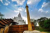 Antik Tapınağı bagan sonra günbatımı, myanmar — Stok fotoğraf