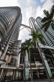 Kuala Lumpur General view of Petronas Twin Towers — Stock Photo
