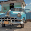 CUBA PIGS BAY-JANUARY 5:Vintage american car at the beach — Stock Photo #46406525