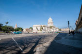 Old Havana with the Capitol taken from street, Cuba — Stock Photo